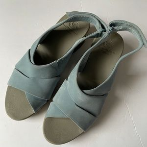 Cloudsteppers by Clark's Cadell Blue Grey Sandals